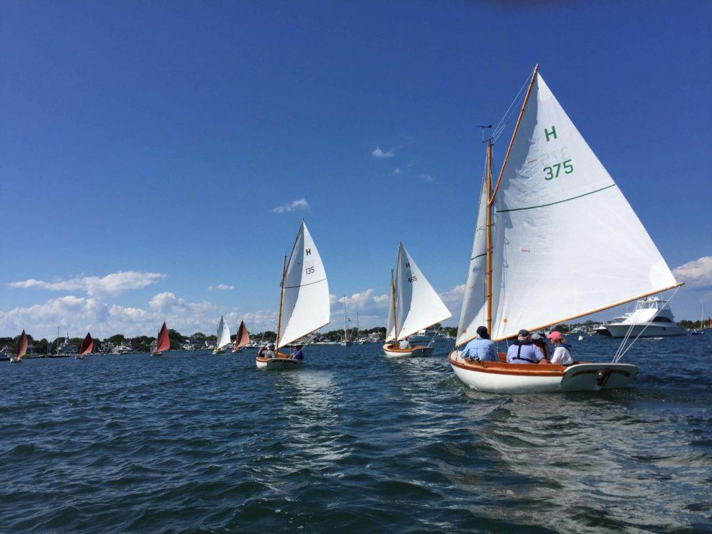 "The Edgartown fleet, enjoying their traditional ""Sundae Sail"""