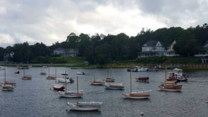 Some of the Shelter Island Fleet on the moorings